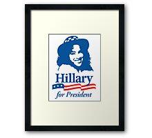 Hillary For President - Red White & Blue Framed Print