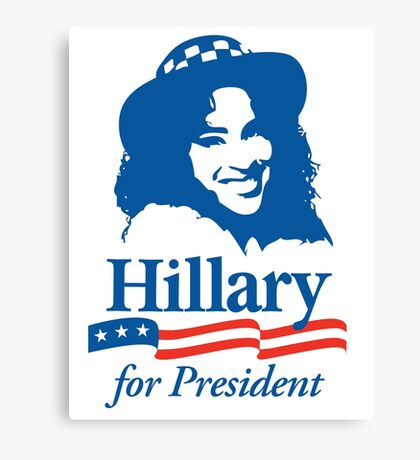Hillary For President - Red White & Blue Canvas Print