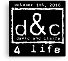 David and Claire 4 Life 2 - #BKClub Canvas Print