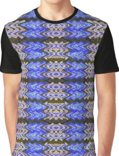 Blue Green White Tiled Abstract Graphic T-Shirt