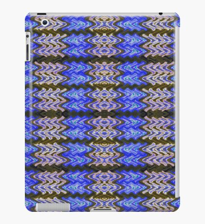 Blue Green White Tiled Abstract iPad Case/Skin