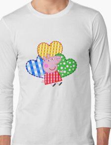Peppa Pig Hearts Long Sleeve T-Shirt
