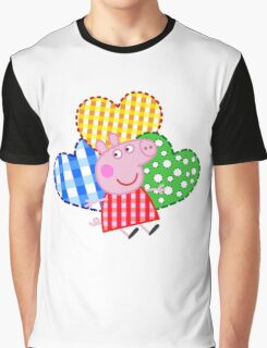 Peppa Pig Hearts Graphic T-Shirt