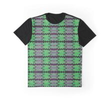 Green Purple Tiled Abstract Graphic T-Shirt