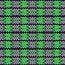 Green Purple Tiled Abstract by donnagrayson