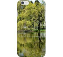 Trees Reflected in the Lake iPhone Case/Skin
