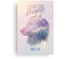"""""""Party on, Doggo."""" Canvas Print"""