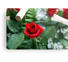 Bouquet of red roses close up Metal Print
