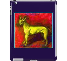 Xoloitzcuintli Yellow iPad Case/Skin