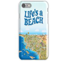 Sunny Cartoon Map of Southern California iPhone Case/Skin