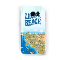 Sunny Cartoon Map of Southern California Samsung Galaxy Case/Skin