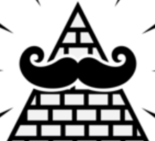 Mystique Mustache Sticker