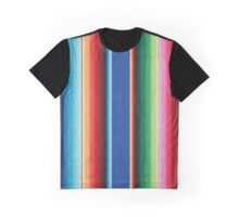 Colorful Mexican Poncho Background Graphic T-Shirt