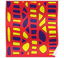 Red yellow and blue decor Poster