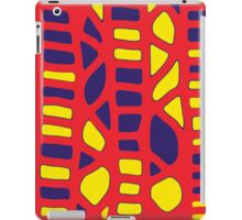 Red yellow and blue decor iPad Case/Skin