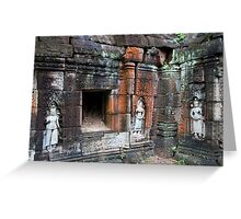 Banteay Prei Temple Ruins Greeting Card