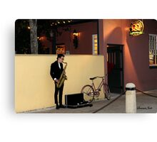 The Sax Player @ Der Pretzel Haus Canvas Print