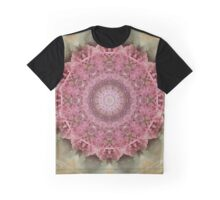 Mandala with pink flowery ornament Graphic T-Shirt