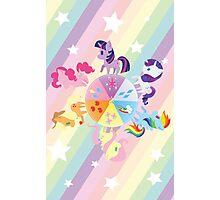 Rainbow Mane Six Photographic Print