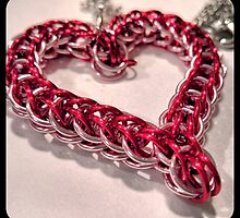 Chainmaille Heart by Jonelle Davila