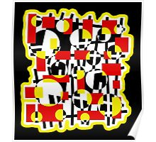 Red and yellow crazy design Poster