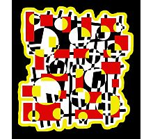 Red and yellow crazy design Photographic Print