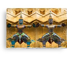 Guardians in Grand Palace in Bangkok Canvas Print