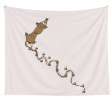 Walked on By a Dachshund Wall Tapestry
