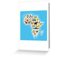 Animal Africa Continent Greeting Card
