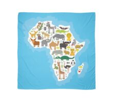 Animal Africa Continent Scarf
