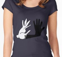 Bunny Hands Women's Fitted Scoop T-Shirt