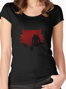 The Witcher Red Wolf Women's Fitted Scoop T-Shirt