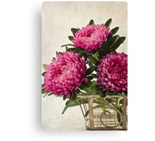 Three Asters - Tray Canvas Print