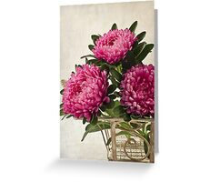 Three Asters - Tray Greeting Card
