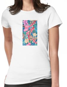 Koi Pond Womens Fitted T-Shirt