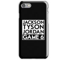Tyson Jack Jordan / Game 6 iPhone Case/Skin