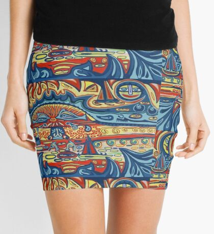 Surreal Sunset Mini Skirt