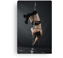 Pole Dancer performing Brass Monkey Canvas Print
