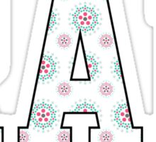 """Rad"" in Black, Green, and Pink Floral Sticker"