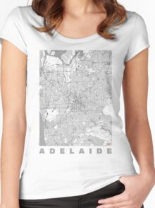 Adelaide Map Line Women's Fitted Scoop T-Shirt