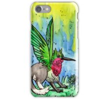 ruby throated griffin iPhone Case/Skin