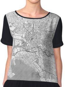 Melbourne Map Line Chiffon Top
