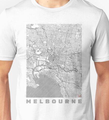 Melbourne Map Line Unisex T-Shirt