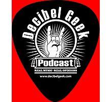 Decibel Geek Guitar Pick! Photographic Print