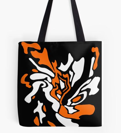 Orange, black and white decor Tote Bag
