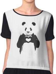 love panda Chiffon Top