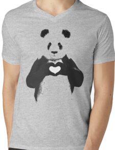 love panda Mens V-Neck T-Shirt