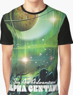 Alpha Centauri retro swamp sci-fi poster Graphic T-Shirt