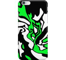 Green, black and white decor iPhone Case/Skin
