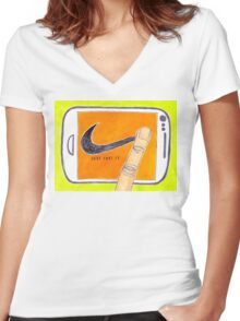 Just Post It Women's Fitted V-Neck T-Shirt